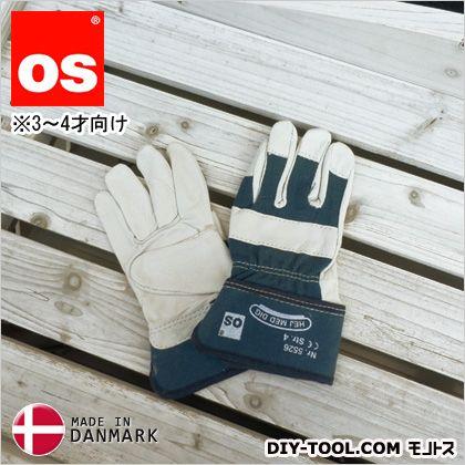 キッズワークグローブ 3〜4才向け 子供用革手袋(作業用皮手袋) 青 S (5526040)