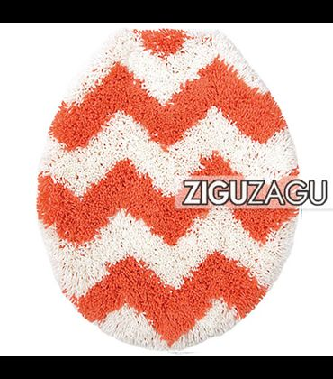 OKATO トイレフタカバー ZIGUZAGU オレンジ  236121