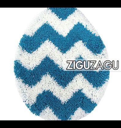 OKATO トイレフタカバー ZIGUZAGU ブルー  236122