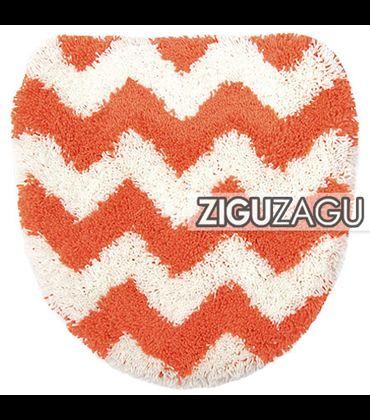 OKATO トイレフタカバー ZIGUZAGU オレンジ  236123