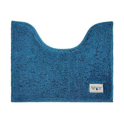 OKATO カラーモードプレミアム ミニトイレマット ターコイズブルー 約縦40×横50(cm) 247994