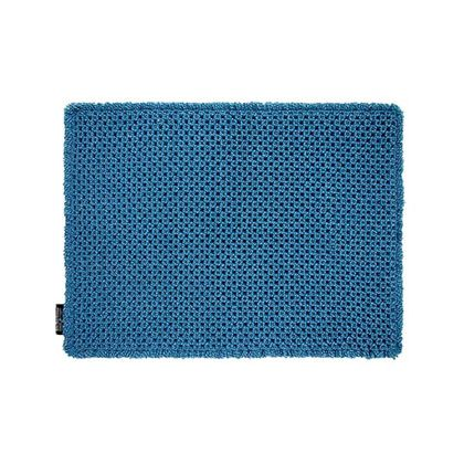 OKATO カラープレミアムワッフルバスマット ターコイズブルー 約縦45×横60(cm) 248033