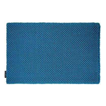 OKATO カラープレミアム ワッフルバスマット ターコイズブルー 約縦50×横80(cm) 248041