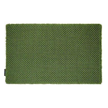 OKATO カラーモードプレミアム ワッフルバスマット グリーン 約縦50×横80(cm) 248042