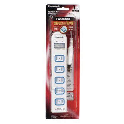 パナソニック パナソニック ザ・タップX 一括防水スイッチ付 4コ口 2mコード付   WHA25242WKP