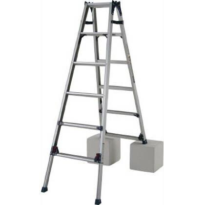 四脚アジャスト式はしご兼用脚立 かるノビ   SCL-180A