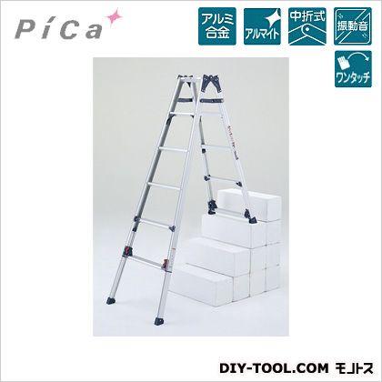 四脚アジャスト式はしご兼用脚立 かるノビ   SCL-45A