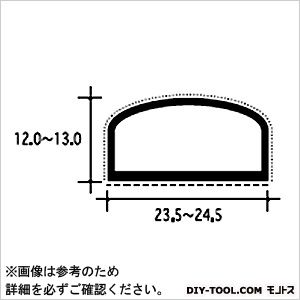扉の気密材 スライド加工 黒 2M (#26-AS)