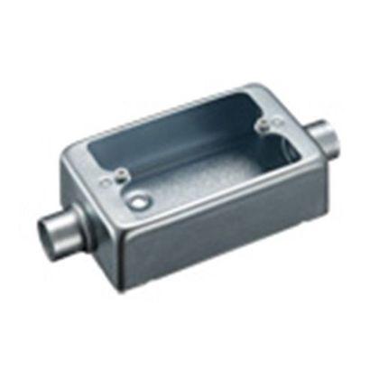 露出スイッチボックス1個用2方出G22(厚鋼電線管用) (DF31221K)