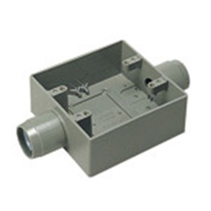 パナソニック 露出スイッチボックス2個用2方出(PF管用)  呼びPF14 DM38614
