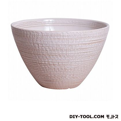 プラスガーデン 睡蓮鉢 シェル ホワイト  530-01