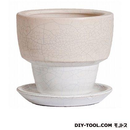 プラスガーデン 植木鉢 アダラ 受皿付  M 548-11 チタンホワイト