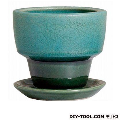 プラスガーデン 植木鉢 アダラ 受皿付  M 548-13 ターコイズ