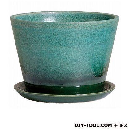植木鉢ルフトミドル240皿付   550-13 ターコイズ