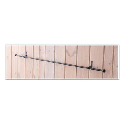 アイアンポール フックセット ポール直径2×長さ97cmフック巾1×奥3.5×高6cm (62184)