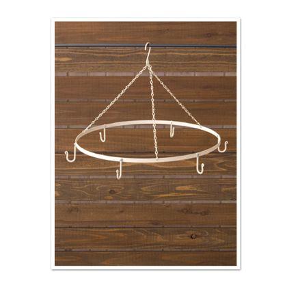 ハンギングサークルフック ホワイト 直径51×高35cm 61047