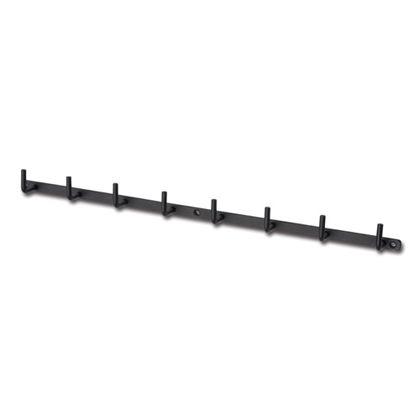 アイアンウォールフック 8連 ブラック 巾44.5×奥3×高3.5cm (63139)