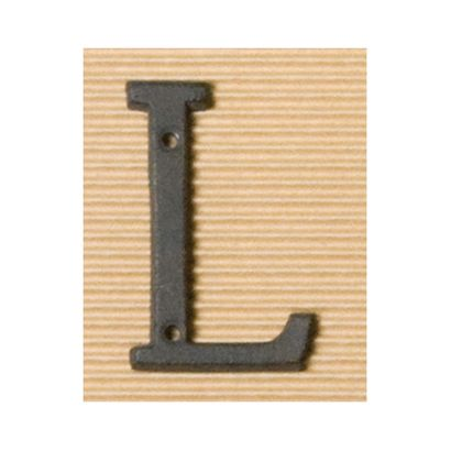 アイアンアルファベットL  奥0.5×高8cm 62384
