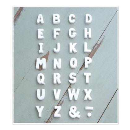 テラコッタアルファベットドット ホワイト 直径1.5×奥1.2cm 30504