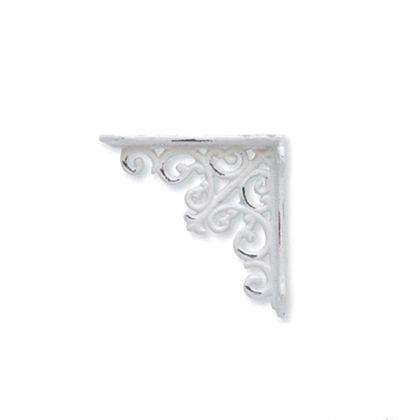 アイアンブラケット ホワイト 巾3×奥12.5×高12.5cm 62032
