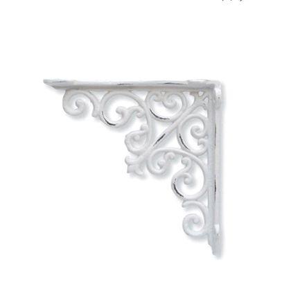 アイアンブラケット ホワイト 巾3.5×奥18.5×高18.5cm 62033