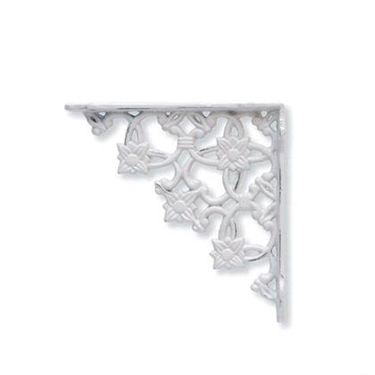 アイアンブラケット ホワイト 巾3×奥16×高16cm 62041