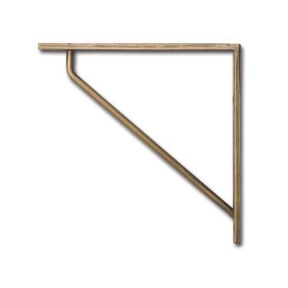 ポッシュリビング ブラケットL アンティークゴールド 巾15×奥1×高15cm 63188 2 個