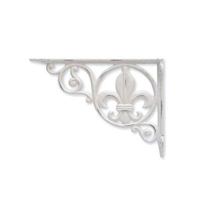 アイアンブラケット リーフ ホワイト 巾3.5×奥22.5×高16.5cm 62321 2 個