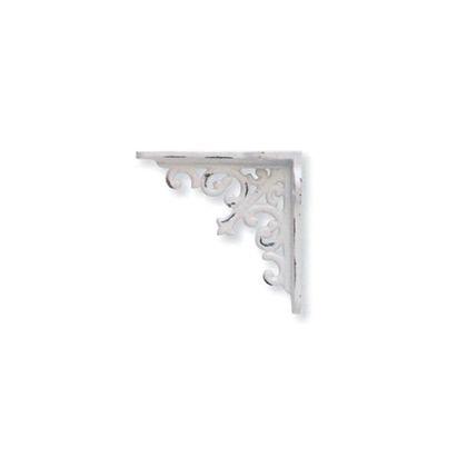 アイアンブラケット ミニ ホワイト 巾2.5×奥8×高8cm 62343 4 個