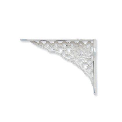 アイアンブラケット ホワイト 巾3×奥18×高13cm 62283 2 個