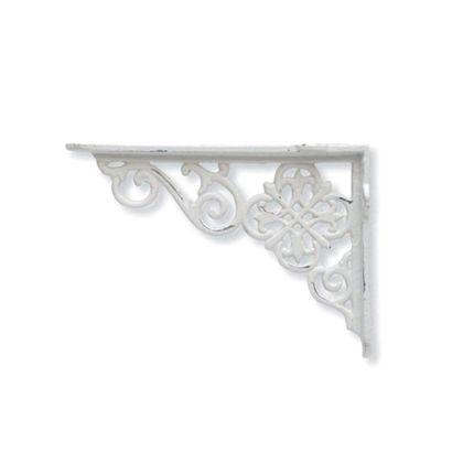 アイアンブラケット ホワイト 巾3×奥18×高12.5cm 62285 2 個