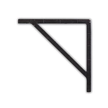アイアンブラケット ブラック 巾1×奥12.5×高12.5cm 62790 2 個