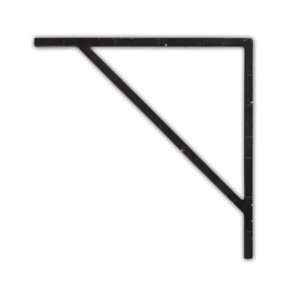 アイアンブラケット ブラック 巾1×奥18.5×高18.5cm 62791 2 個