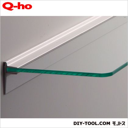 Q-ho レールシェルフ強化ガラス  棚板平面部寸法120×300mm T1520