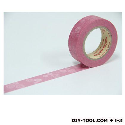 小町 渦巻き 装飾マスキングテープ  15mmx10m