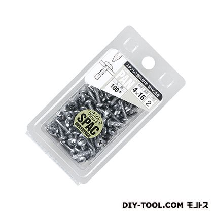 ステンレス製ドリルスクリュー ナベ頭 パック品 (PAN-5X16SP) 100本