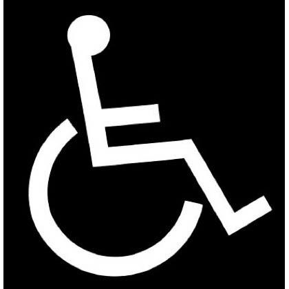 ロードマーキング(路面標示材) サイン(車いすマーク) 白 (RM-204)