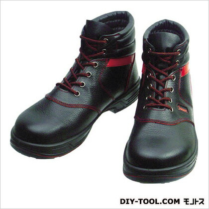 シモン 安全靴 編上靴 黒/赤  23.5cm (SL22R23.5) 樹脂先芯安全靴 安全靴