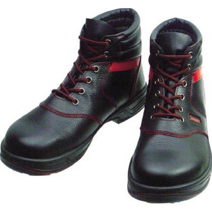 シモン 安全靴 編上靴 黒/赤  27.5cm (SL22R27.5) 樹脂先芯安全靴 安全靴