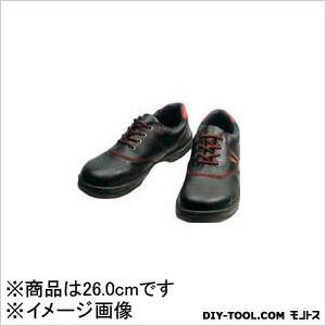 安全靴 短靴 黒/赤  26.0cm SL11R26.0