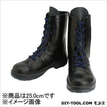 安全靴長編上靴8533黒25.0cm   8533-25.0