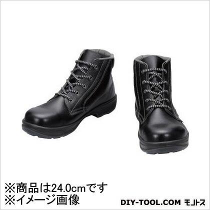 シモン 安全靴 編上靴 黒 24.0cm SS2224.0   樹脂先芯安全靴 安全靴