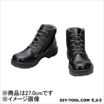 シモン 安全靴 編上靴 黒 27.0cm SS2227.0   樹脂先芯安全靴 安全靴