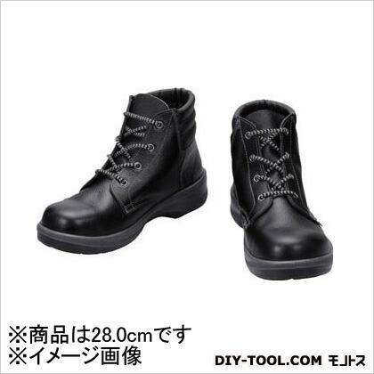 シモン 安全靴 編上靴 7522 黒 28.0cm 7522N28.0   樹脂先芯安全靴 安全靴