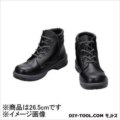 シモン 安全靴 編上靴 7522 黒 26.5cm (7522N26.5) 樹脂先芯安全靴 安全靴