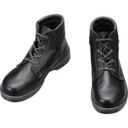 シモン 安全靴 編上靴 7522 黒 24.0cm (7522N24.0) 樹脂先芯安全靴 安全靴
