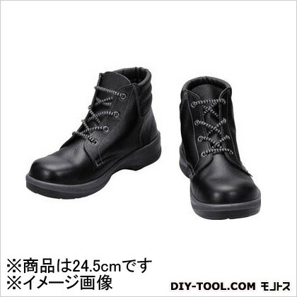 シモン 安全靴 編上靴 7522 黒 24.5cm (7522N24.5) 樹脂先芯安全靴 安全靴