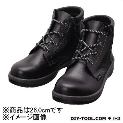 シモン 安全靴 編上靴 7522 黒 26.0cm 7522N26.0