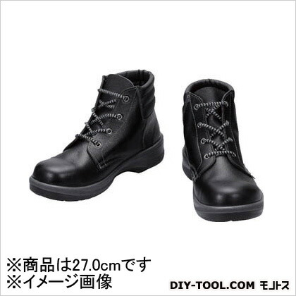 シモン 安全靴 編上靴 7522 黒 27.0cm (7522N27.0) 樹脂先芯安全靴 安全靴