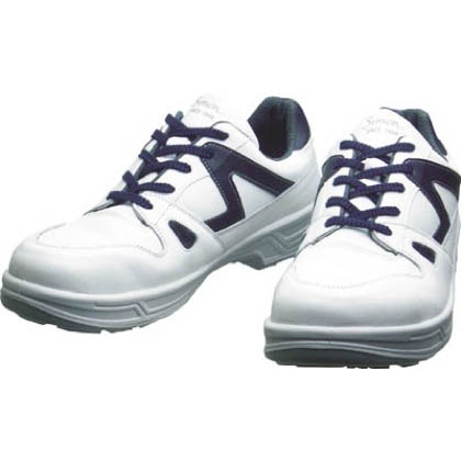 安全作業靴 短靴 8611 白/ブルー 25.0cm 25.0cm (8611WB25.0)